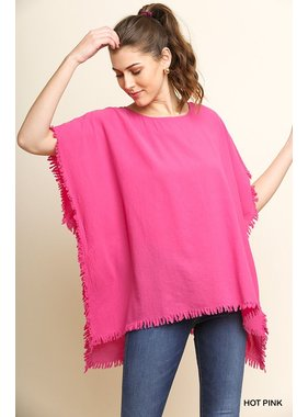 Umgee Dolman Sleeve Top with Fringe detail by Umgee