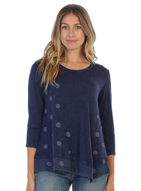 Jess & Jane Coco dots Asymetric tunic