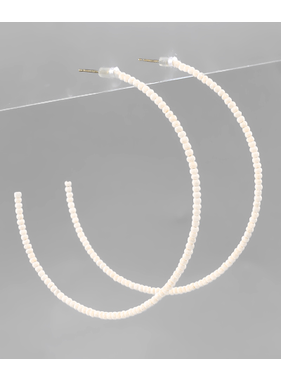 Golden Stella Seed bead open hoops