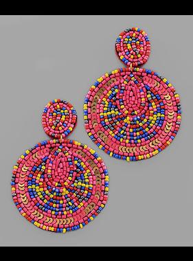 Golden Stella Seed bead & sequin disc earrings