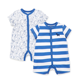 Little Me Puppies 2 pack Playsuit Rompers