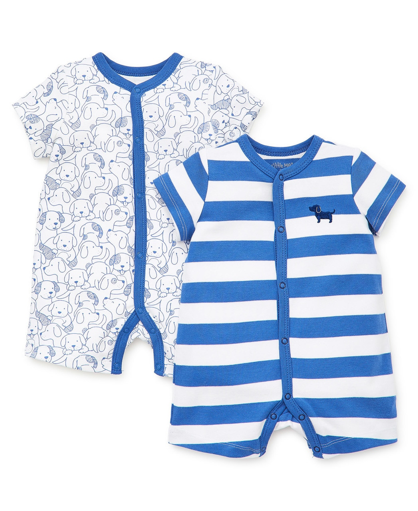 0dbe13320 Little Me Puppies 2 pack Playsuit Rompers - Cloud Nine Gifts & Apparel