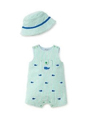 Little Me Whale Sunsuit & Hat