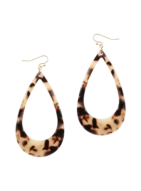What's Hot Light brown acrylic teardrop earring
