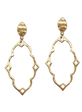 What's Hot Worn gold double filigree stud earring