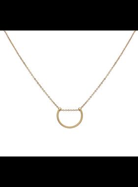 What's Hot Matte gold u shape necklace