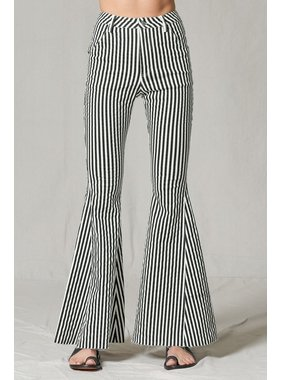 By Together Ultra flare striped bell bottom jeans