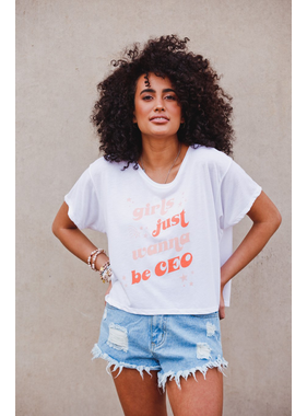 Buddy Love Wholesale Girls just want to be CEO tee