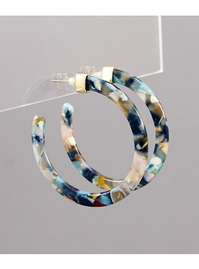 Golden Stella Acrylic 55mm hoops