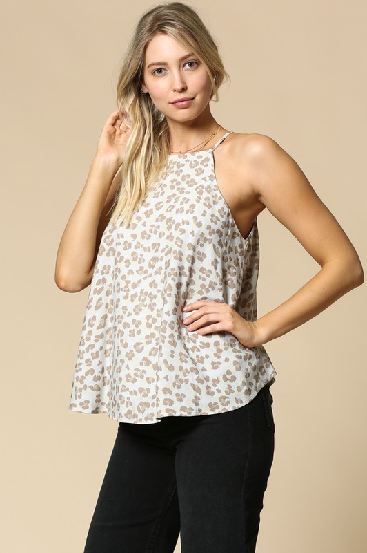 By Togeher Leopard print high neck top