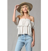 By Together Tiered off shoulder top