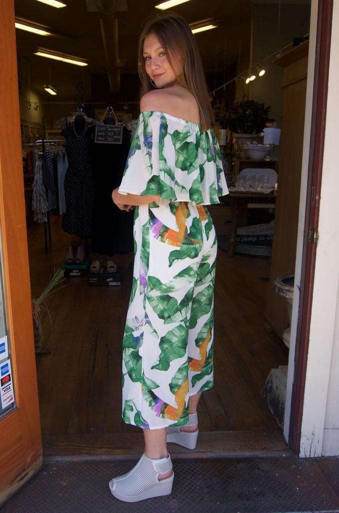 Buddy Love Wholesale josephine jumpsuit in purple palm