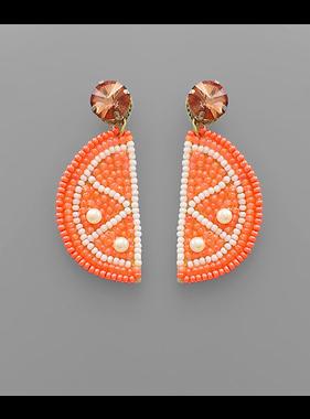 Golden Stella Orange slice earrings
