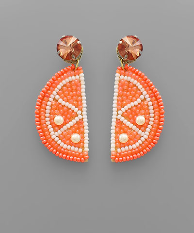 Golden Stella Orange slice earrings