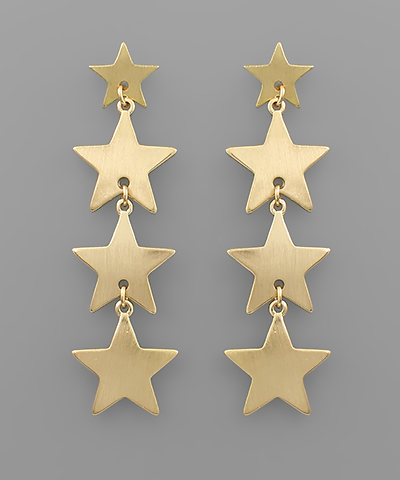Golden Stella Star linear earrings