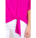 She + Sky Kimono sleeve woven top with side tie detail