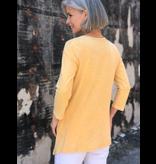 Jess & Jane Slub tunic with linen contrast