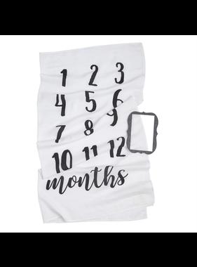 Mud Pie Monthly milestone blanket set