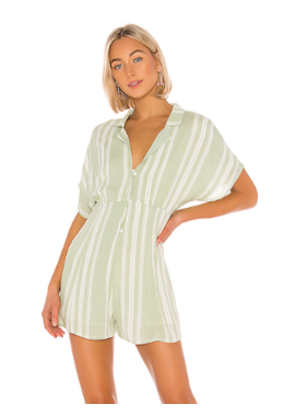 House Of Quirky On the line shirt playsuit