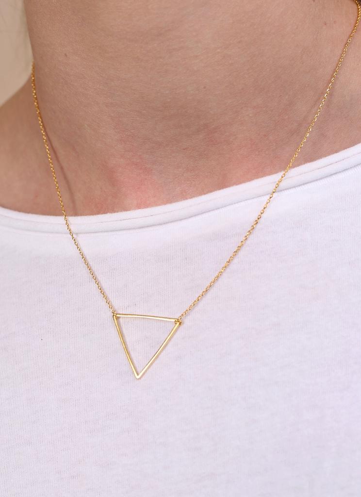 Caroline Hill Bennie triangle necklace