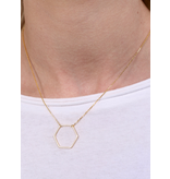 Caroline Hill Harlem hexagon necklace