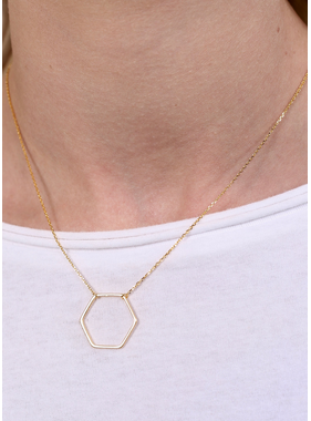 Caroline Hill Harlem hexagon necklace