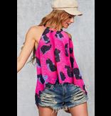 Bibi Leopard print halter neck top
