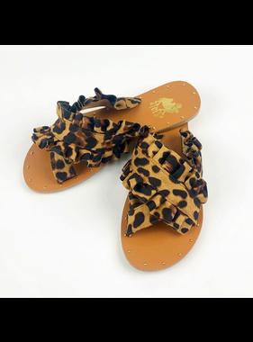 Camel Threads Lola leopard sandal