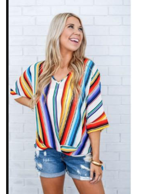 Peace Love Cake Bold serape tunic