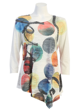 Jess & Jane Confetti asymetrical tunic