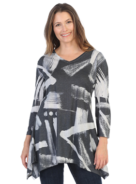 Jess & Jane Journal v neck tunic