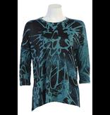 Jess & Jane Storm slinky knit side slits tunic top