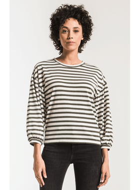 Z Supply Canyon stripe peasant tee