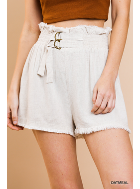 Umgee Linen blend high waist shorts