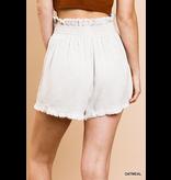 Umgee Linen blend high waist shorts