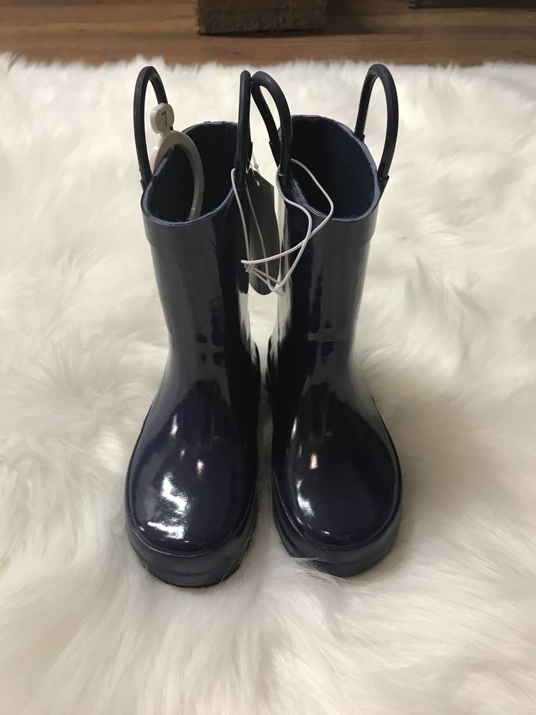 Trimfoot Navy Rubber Rain Boots by Trimfoot