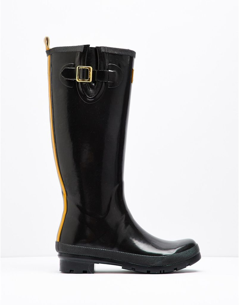 Joules Field Wellies - Glossy Welly in black
