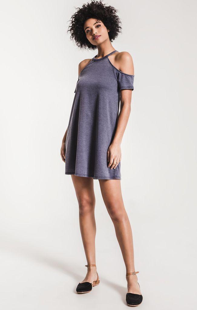 Z Supply Short Sleeve Cold Shoulder Dress