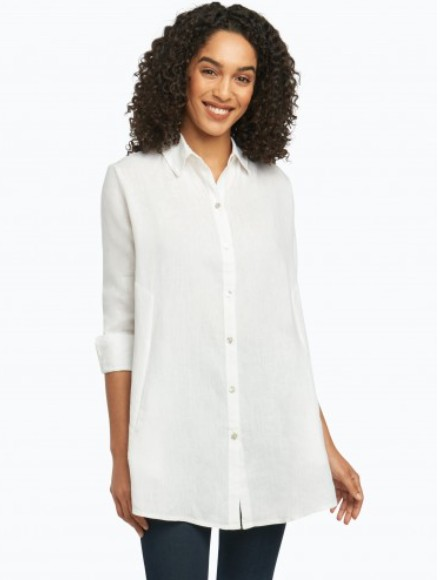 Foxcroft Cici Tunic in Chambray Linen