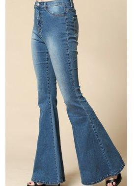 By Together Mid- Rise Flared Bell Bottom Denim Jeans