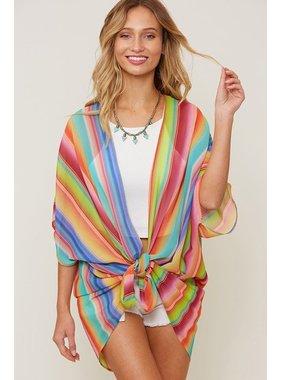 Fantastic Fawn Lightweight Rainbow kimono cardigan