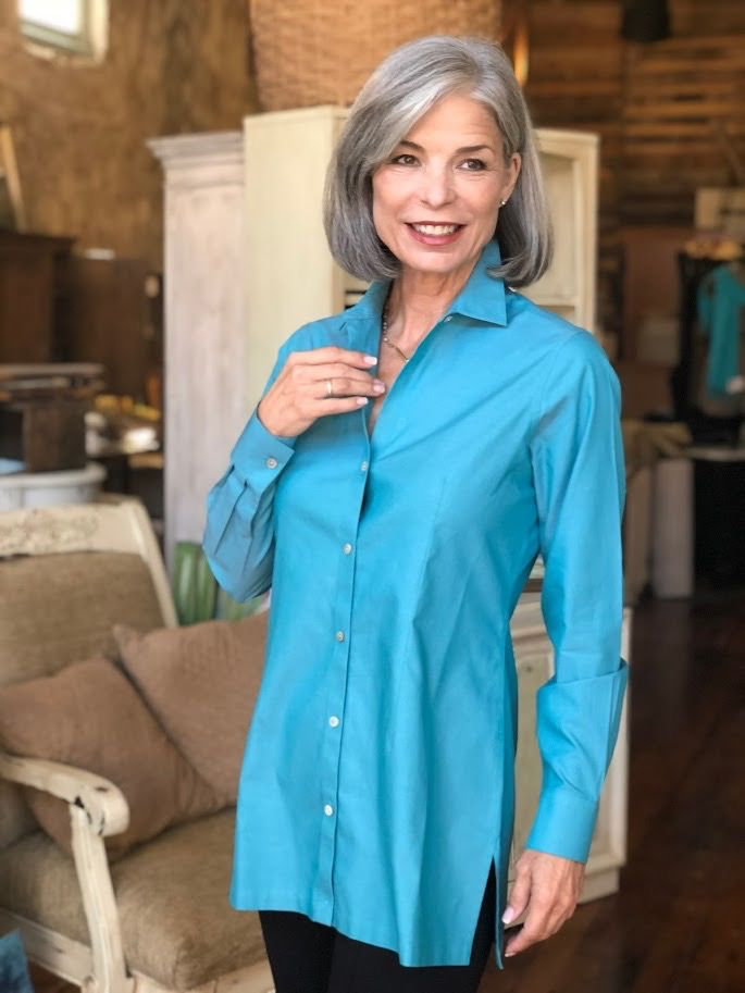 Foxcroft Harlow Long Sleeve Blouse