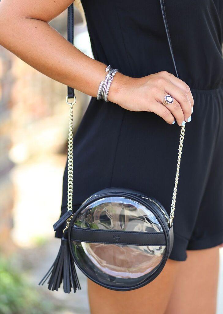 Caroline Hill Coco circular bag with tassel