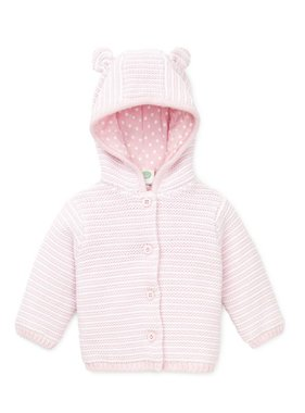 Little Me Baby girl textured cardigan