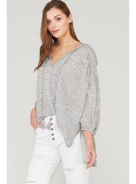 Wishlist, Inc. 3/4 sleeve tunic with smocked sleeves
