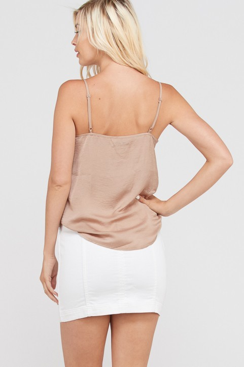 Wishlist, Inc. Layering satin lace cami