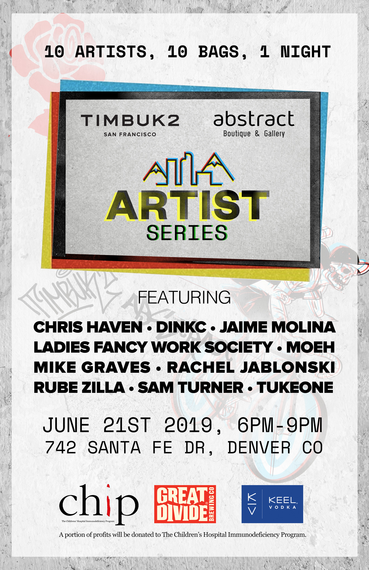 In Store Events - June 21st Timbuk2 bag show - Abstract