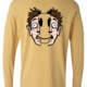 Abstract origial design. Emojis on the front and split face on the backAbstract origial design. Emojis on the front and split face on the back