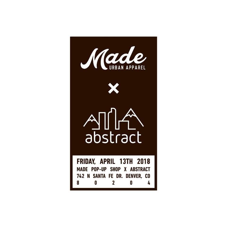 Made Urban Apparel Pop-up Event 4/13 2018