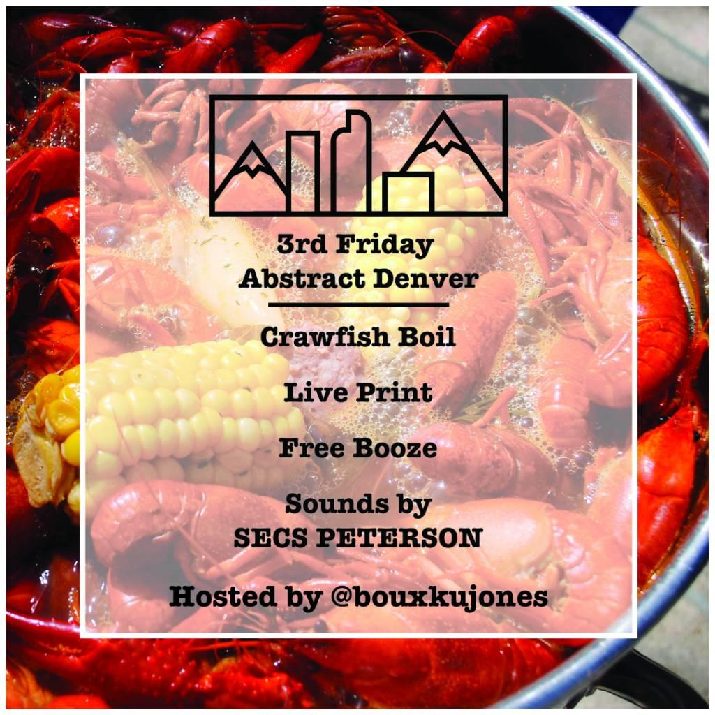 Third Friday Crawfish Boil 5/18